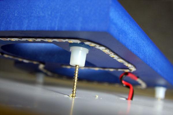 3D-Buchstabe mit LEDs für Innenbereich