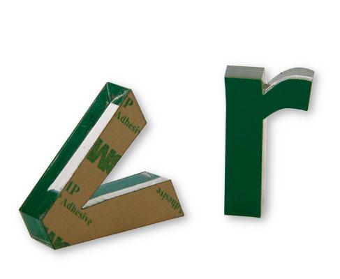 3D-Profilbuchstaben Acryl mit Folie
