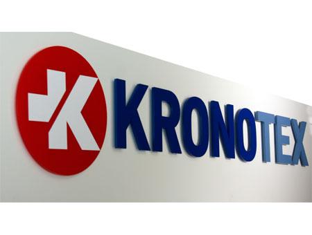 3D-Logo aus Kronotex aus Acryl