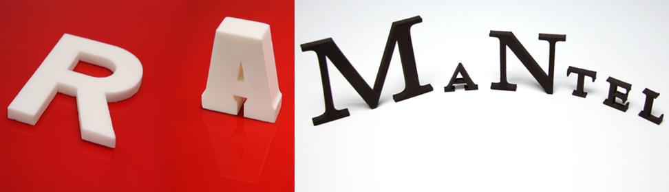 3D-Logo und 3D-Buchstaben aus Schaum
