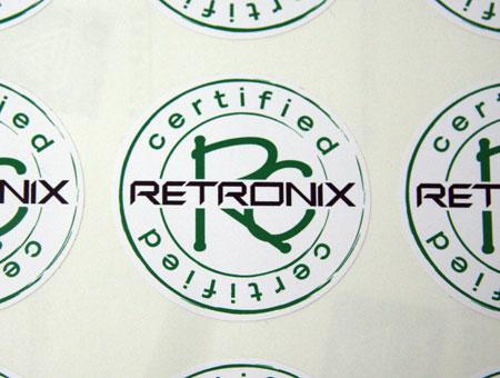 Beispiel Etiketten rund