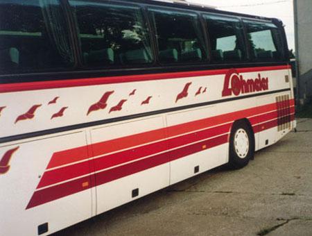 Beschriftung-Reisebus