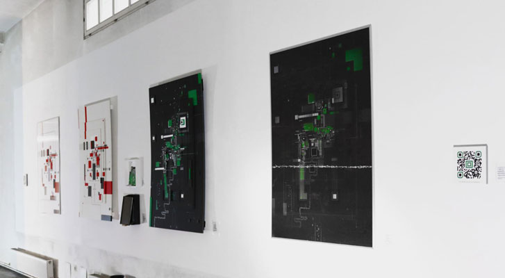 Series of Abstract Motherboards and Lenticular Print