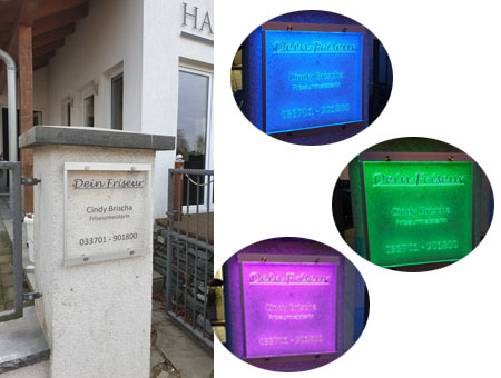 RGB-LED-Leuchtschild