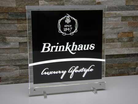 LED-Leuchtschild Brinkhaus luxury lifestyle