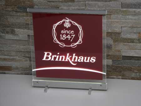 LED-Leuchtschild Brinkhaus