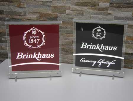 LED-Leuchtschild Brinkhaus & Brinkhaus luxury lifestyle