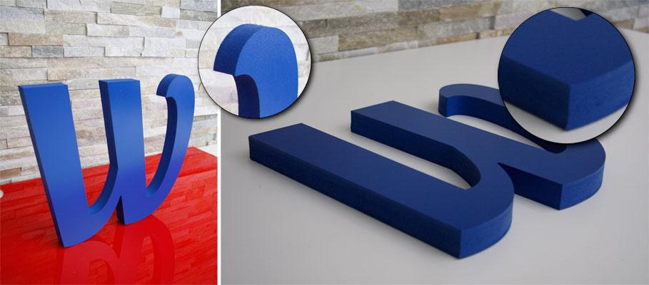 3D-Profilbuchstabe 25mm Forex lackiert