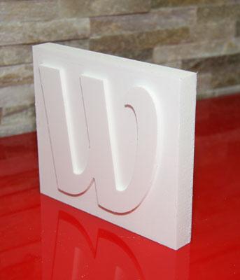 3D-Profilbuchstabe negativ 25mm Forex