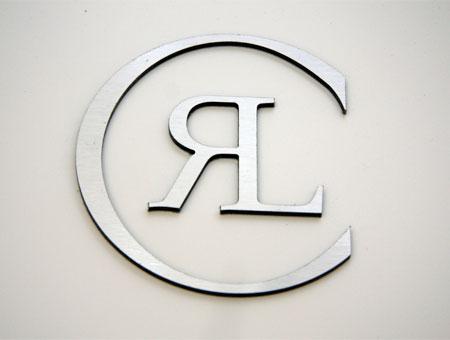 3D-Logo aus Aludibond gefräst