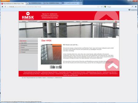 Beispiel Gestaltung Internetseite