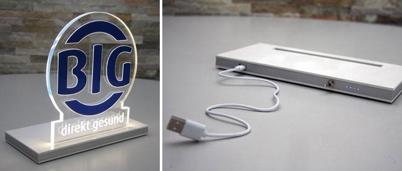 LED-Tischaufsteller USB-/Akkuversion