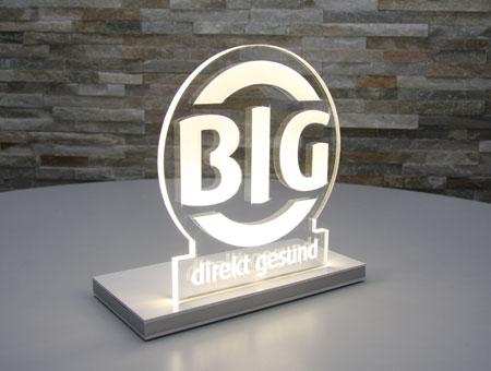 LED-Tischaufsteller Logo graviert