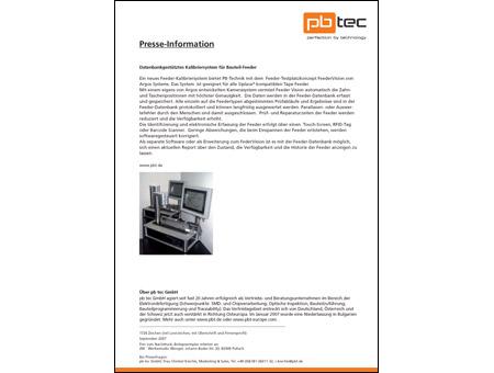 Pressebericht und Produktinformation